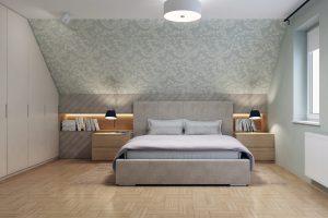 sypialnia zaprojektowana przez Proste Wnetrze z Krakowa